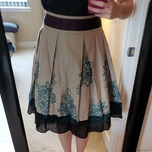 NWOT Floreat Floral Embroidered Tulle Skirt